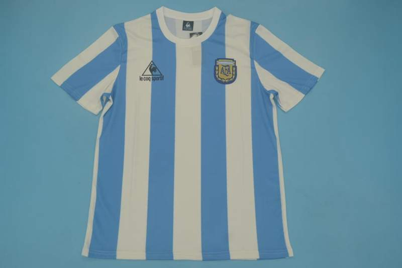 AAA Quality Argentina 1986 Home Retro Soccer Jersey