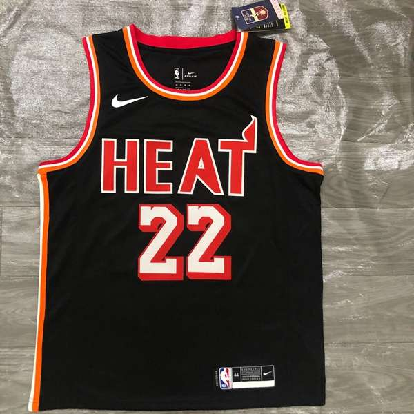 Miami Heat BUTLER #22 Black Basketball Jersey (Hot Press)
