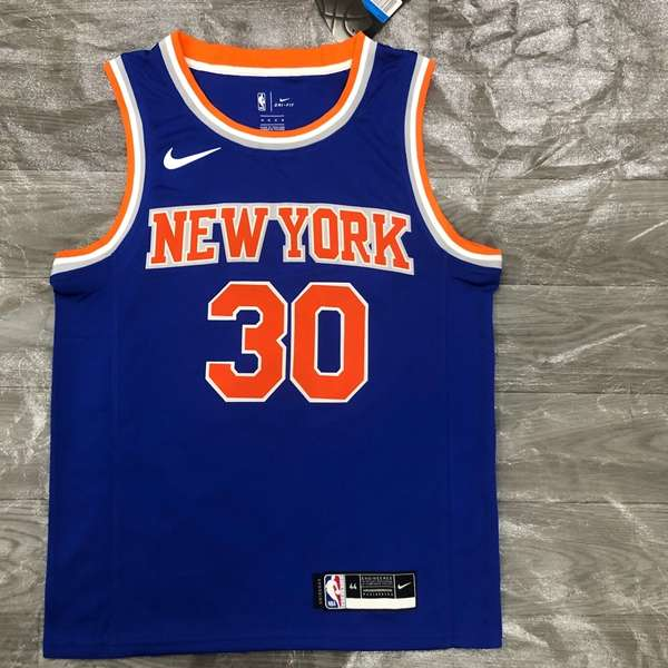 New York Knicks RANDLE #30 Blue Basketball Jersey (Hot Press)
