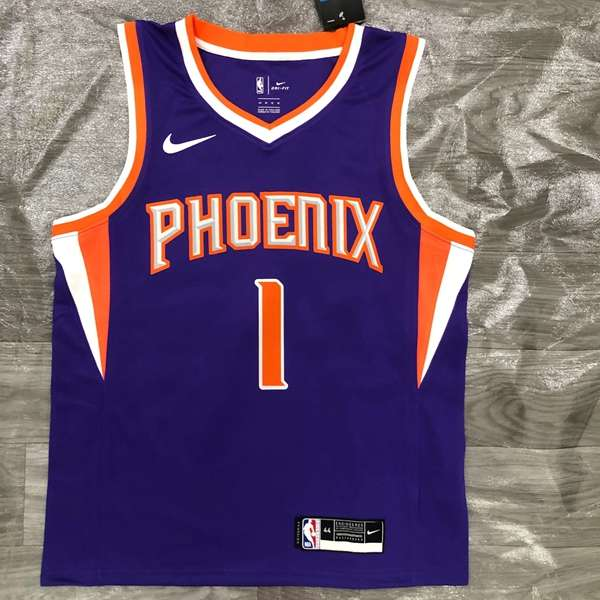 20/21 Phoenix Suns BOOKER #1 Purple Basketball Jersey (Hot Press)