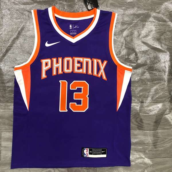 20/21 Phoenix Suns NASH #13 Purple Basketball Jersey (Hot Press)