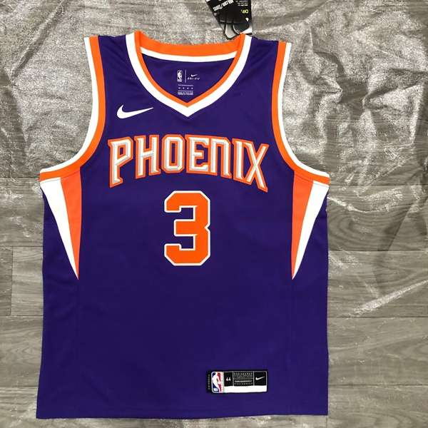 20/21 Phoenix Suns PAUL #3 Purple Basketball Jersey (Hot Press)