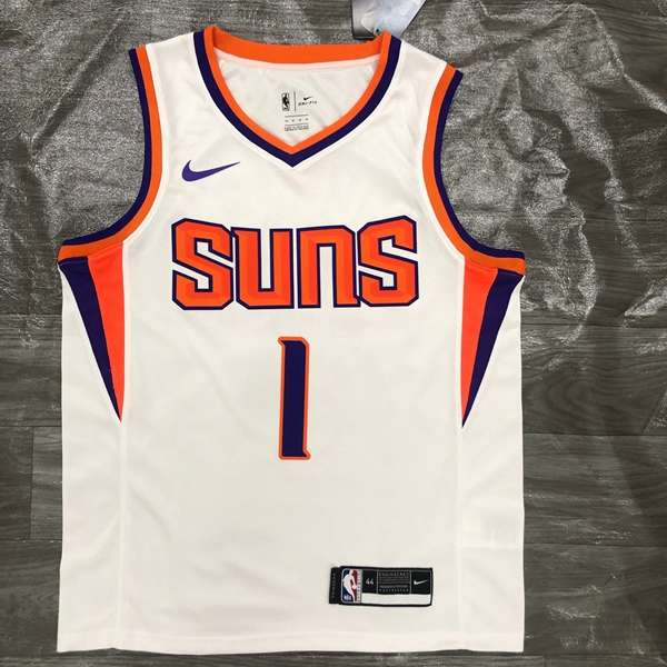 2020 Phoenix Suns BOOKER #1 White Basketball Jersey (Hot Press)